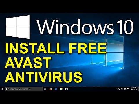 Windows 10 - Free Avast Antivirus - How to Install Free Antivirus for Windows 10