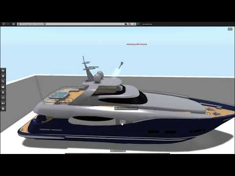 Second Life Script Driven Re-texturing of Yacht