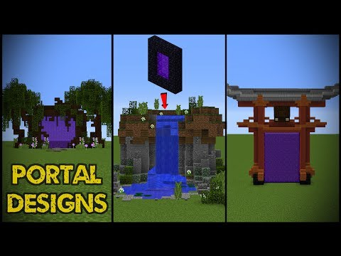 11 Minecraft Nether Portal Designs!