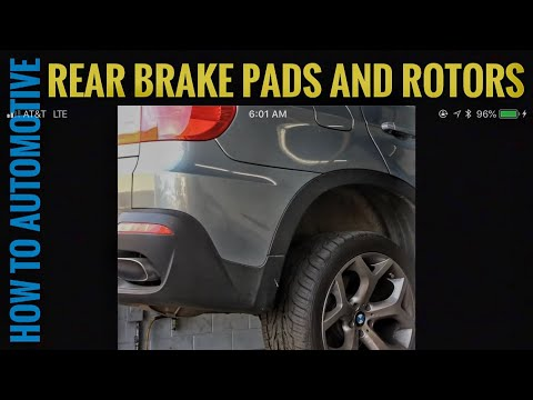 How to Replace the Rear Brake Pad Rotors and Sensors on a 2009 BMW X5