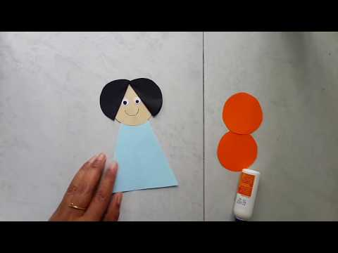Easy paper doll making idea for kids
