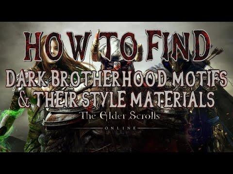 Elder Scrolls Online | How to Find All Dark Brotherhood DLC Motifs & Style Materials