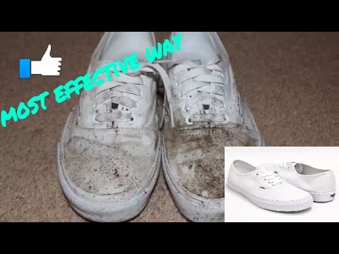 how to clean white vans