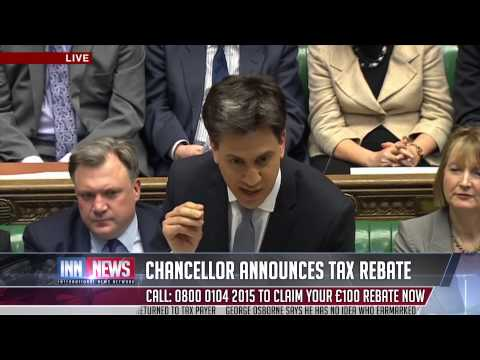 UK Chancellor to return £40 billion by way of immediate tax rebates for all