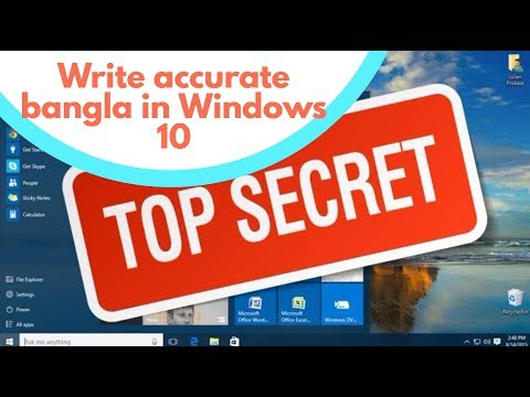 How to write accurate bangla in Windows 10