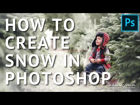 How To Create Snow & Winter Effects In Photoshop - Tutorial By Jackie Jean