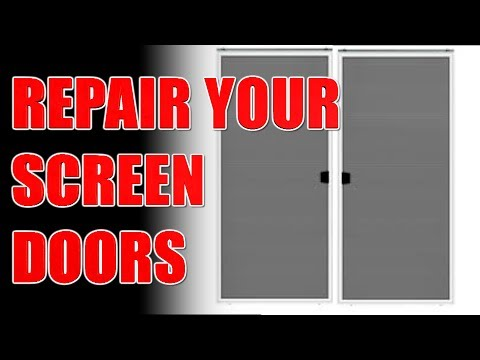 How To Repair A Sliding Screen Door Life Hack
