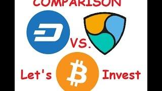 Dash vs NEM vs Bitcoin - Side by Side Coin Comparison