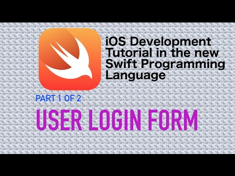 User Log In Form Example in Swift 3 (Part 1)