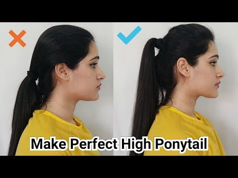 SUMMER HAIRSTYLE - HIGH PONYTAIL WITH PUFF for College, Office, School Girls