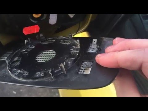 How to replace heated mirror glass on 2002-2005 Honda Civic SI/SIR EPHatch