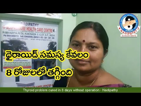 Thyroid problem cured in 8 days without operation Nadipathy