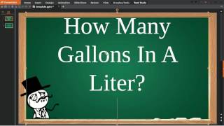 How Many Gallons In A Liter