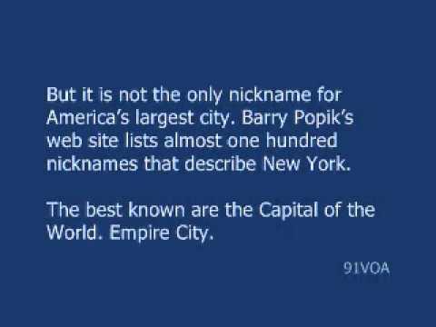 [91VOA]Nicknames for New York City
