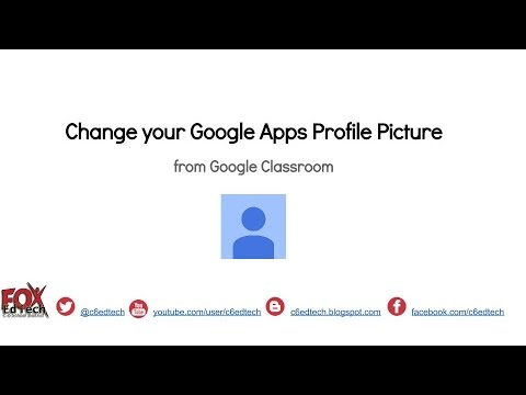 Change Google Apps Profile Pic using Classroom