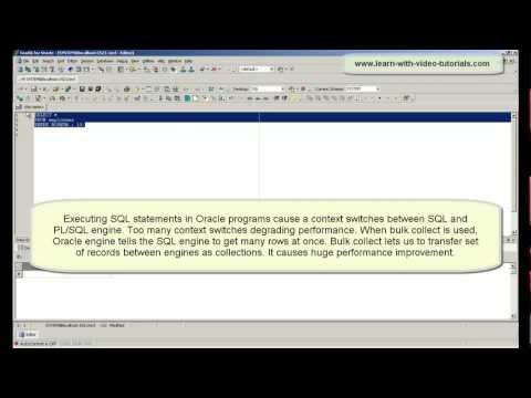 PL/SQL Oracle BULK COLLECT tutorial