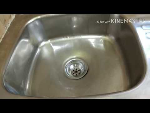 How To Clean Your Kitchen sink Easily / Kitchen Sink Cleaning/ Clean your kitchen sink in hindi