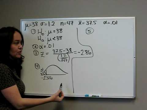 z test critical value approach