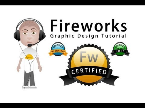 Fireworks CS5 Ribbon Banner Wrapped Seals of Certification Tutorial Adobe Design