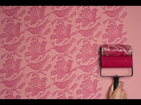 The Painted House - Using Annie Sloan Paints with Patterned Paint Rollers