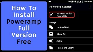 How to install Poweramp Full Version for free 100% Working