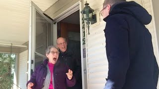 I flew home to surprise my mom for her birthday. LOVE her reaction!