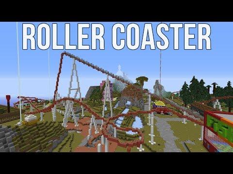 Minecraft Survival Friendly Roller Coaster!