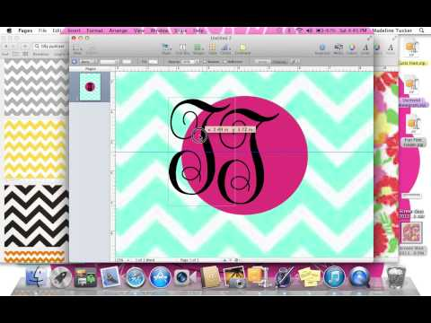 How to Make a Monogrammed Binder Cover