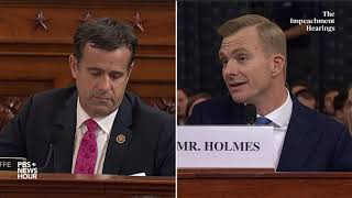WATCH: Rep. John Ratcliffe's full questioning of Hill and Holmes | Trump impeachment hearings