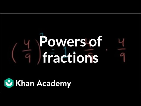 Powers of fractions | Exponents, radicals, and scientific notation | Pre-Algebra | Khan Academy
