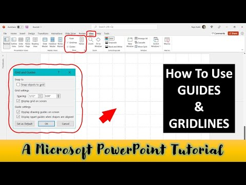 How to Use Smart Guides and Gridlines in PowerPoint 2016 Tutorial | The Teacher
