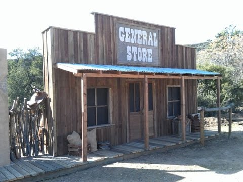 Build An Old Western Town General Store Facade False Front