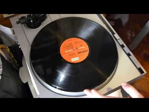 Cleaning Vinyl LP Record with Glass cleaner