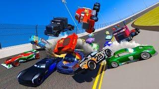 Racing Crash Cars 3 Daytona McQueen Jackson Storm Chick Hicks The King Mack Doc Hudson and Friends