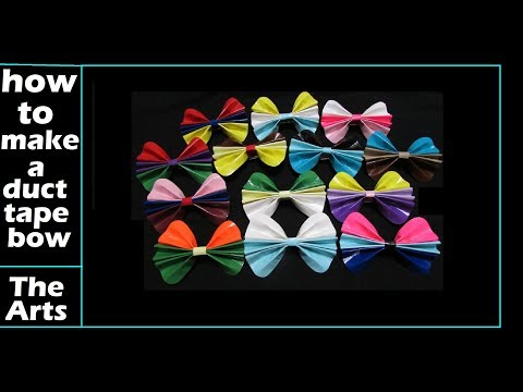 How to make Mini, Medium and Jumbo sized Duct Tape Bows
