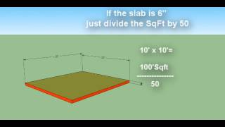 How To Estimate Concrete