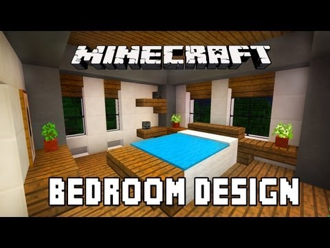 Minecraft Tutorial:  How To Build A Modern House  Ep.6  (Bedroom Furniture Design Ideas)