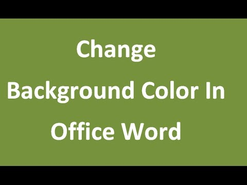How to Put Background Color In Text Microsoft Office Word