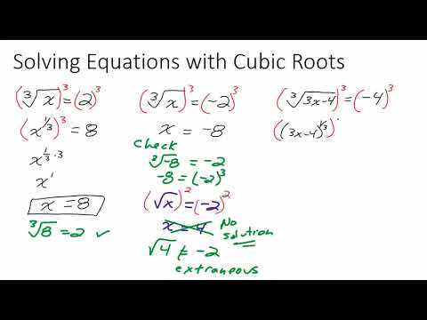 Solving Equations with Cubic Roots