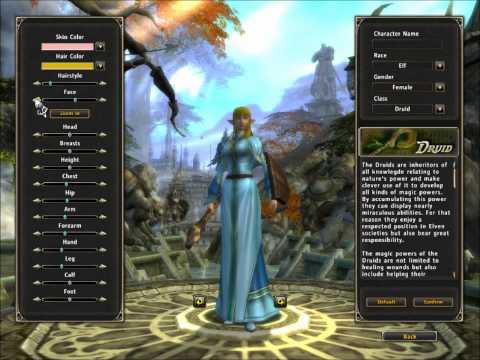 Runes of Magic - Elf classes (male/female looks)