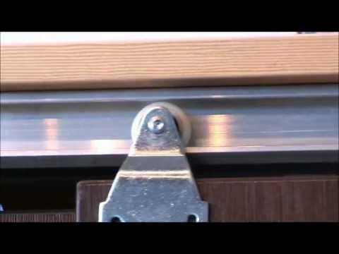 Horus Top Hung Sliding Door Gear - double track for walk in wardrobe with no track on the bottom