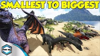 Ark Survival Evolved Smallest To Biggest Dino