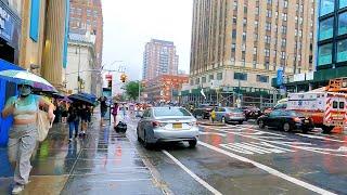 Walking In New York City 4K - Manhattan, East 14th Street & 8th Ave Subway - Rain (4K Ultra HD) 🇺🇸