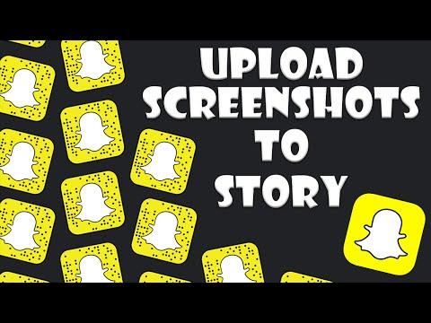 ❥Upload Screenshots ❥To Snapchat