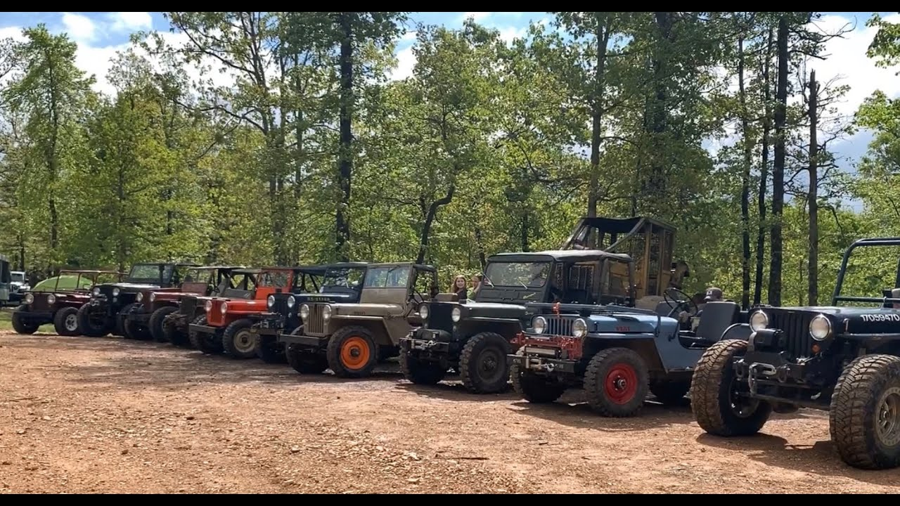 Willys Flatfender Jeeps Wheeling Rush Springs Off-road