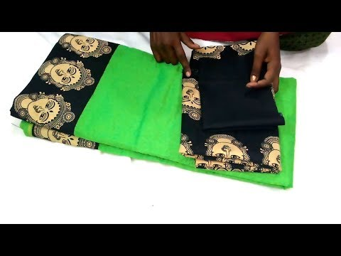 kalamkari Design blouse cutting and stitching kalamkari sarees blouse easy method blouse design