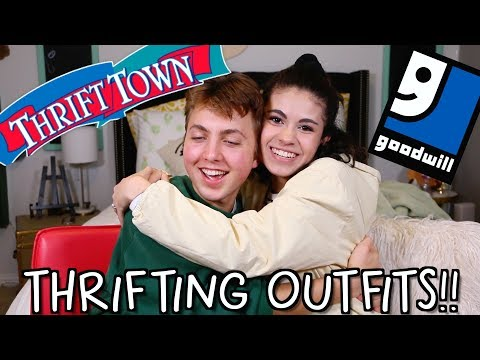 GIRL VS. BOY Buying Outfits For Each Other!!