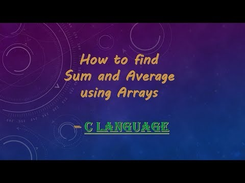 How to find sum and average of n numbers using Array | C Programming