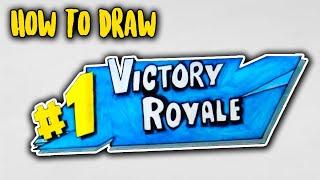ᐅ Descargar Mp3 De How To Draw Fortnite Victory Royale Logo Easy