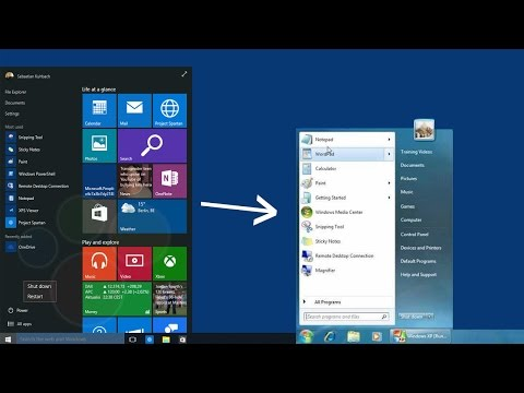 how to change start menu windows 10 to classic view